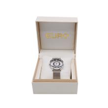 Handmade luxury high quality specialty paper+plastic+foam Travel watch box custom logo Elegant watch gift box