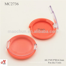 MC2736 With clear lid round shape plastic Blusher container