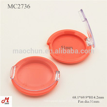 MC2736 Com tampa transparente de forma redonda plástico Blusher recipiente