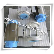 Alavanca Ss304L Válvula de Bucha de Bola com Baixa Pressão (X47W)