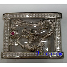 Chinese Zodiac Dragon Sterling Silver Belt Buckle for Man