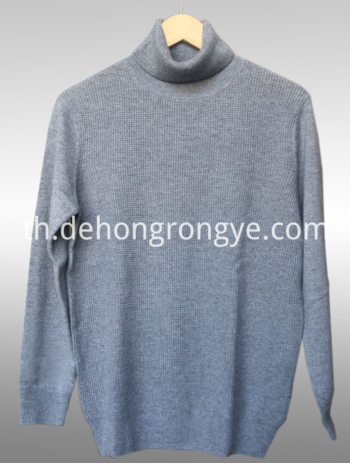 Gray High Necked Cashmere Men S Sweater