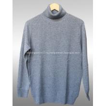 Высоким воротником кашемировый мужской свитер