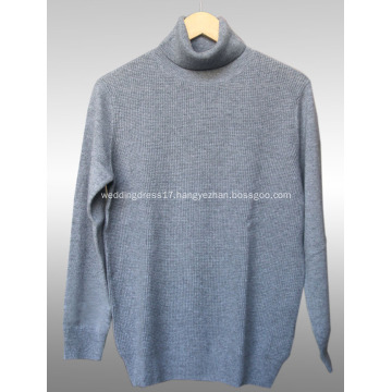 High-necked cashmere men's sweater