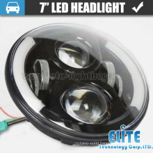 "12v 7"" round 75watt auto led headlight with h4 plug for jeep wrangler JK"