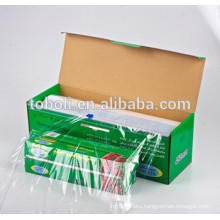 PE cling film with color box,food grade film , high quality cling film