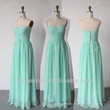 Mint Green Bridesmaid Dress Custom Made Free Shipping Floor Length Sweetheart Bride Maid Dresses HDO6