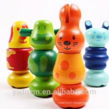 Jouet écologique pour bébé, jouet en bois fait à la main, meilleur jouet éducatif pour enfants en gros