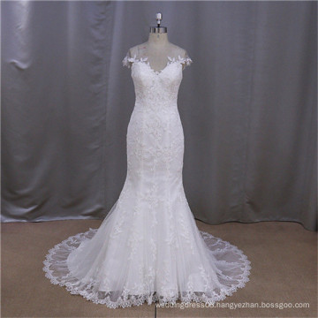 glaring newest cuted turmpet mermaid wedding gowns with corset back