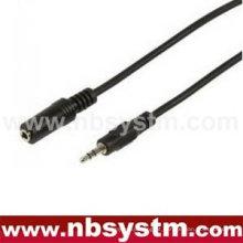 Conector estéreo de 3,5 mm para cabo jack mono de 3,5 mm