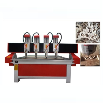 Four Spindle Wood Double Heads 3D CNC Router