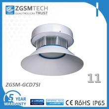 Luz da oficina da baía do diodo emissor de luz de uma garantia de 5 anos 75W Dimmable