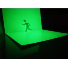 Folha rígida fotoluminescente do PVC de Realglow