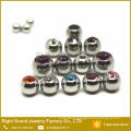 Stainless steel Covering Gem Balls, Body Piercing Screw Threaded Balls Replacements 3mm 4mm 5mm