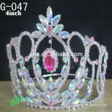 Novo estilo de moda por atacado personalizado nova tiaras coroas