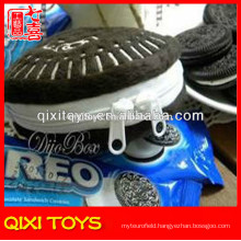 Popular design top quality oreo plush coin purse