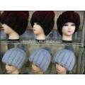 Moda Lady Mink Fur Caps Para O Inverno