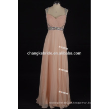 Los cequis de la manera rebordearon los vestidos de noche largos de la gasa del amor de los vestidos