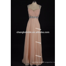 Fashion sequins beaded dresses Sweetheart Long Chiffon Evening Dresses