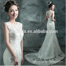 Elegant A Line white Trumpet Mermaid Wedding Dress