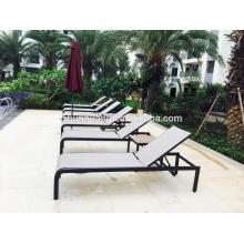 Beach aluminum lounger cheap fabric chaise lounge double sun bed