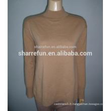 vente en gros de base style demi-col 100% pure femmes en cachemire tricot