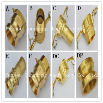 Brass quick connect hose connector