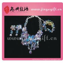 Collection d'accessoires de mode fabriqués à la main en cristal perlé de Shangdian pour le printemps été