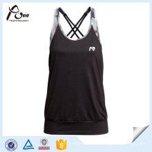 Femmes Yoga Singlet Dry Fit Wicking Running Vest avec soutien-gorge