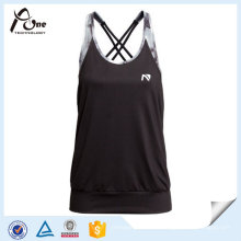 Frauen Yoga Singlet Dry Fit Wicking Laufweste mit BH