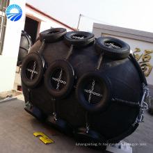 Amortisseur en caoutchouc pneumatique marin chaud de vente avec la chaîne galvanisée et le pneu fabriqué en Chine