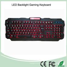 Mechanischer Typ Spanisch Layout LED Hintergrundbeleuchtung Multimedia Gaming Keyboard (KB-1901EL)