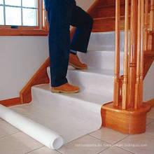 Película protectora para el piso de la escalera