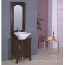 Floor Solid Wood Bathroom Furniture (B-195)