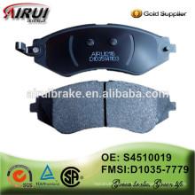 Almohadilla de freno de alta calidad, importador de pastillas de freno OE: S4510019 / D1035-7779
