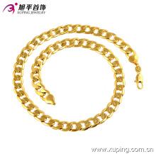 Мода прохладный большой цепи мужские 24k золото Цвет ювелирные изделия ожерелье -40960