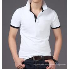 Mode ajustée de coton plaine de coutume en gros hommes T-shirt