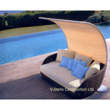 Shade Canopy Outdoor Patio Rattan Wicker Sunbed