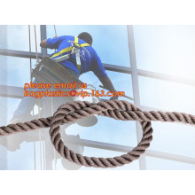 wall-wash nylon twisted safety rope,  wall-wash nylon safety rope
