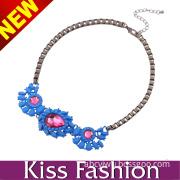 Newest Wholesale Cheap Blue Pendant Big Diamond Fashion Punk Jewelry