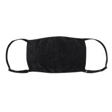 Máscara facial de tecido com mistura de seda e malha de design
