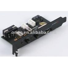 Placa deflectora ESATA de un solo puerto con 2 interruptores de alimentación