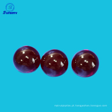 Lente de bola de rubi de precisão óptica e meia esfera