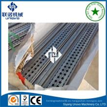 Perfiles de múltiples pliegues de armarios de metal de rack por el proceso formado en frío