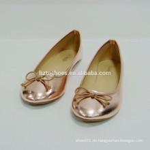 Einfache gute Qualität Frau Schuh flache Schuhe mit bowknot
