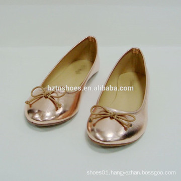 Simple Good Quality woman shoe flat shoes with bowknot