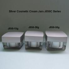 Plaza de plata tarro de crema J050C
