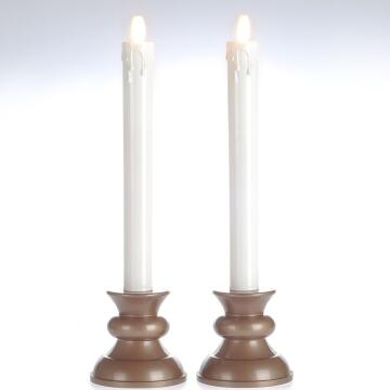 luminara Battery Operated Taper Candles in Ivory