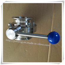 Sanitary Stainless Steel Quick Butterfly Valve