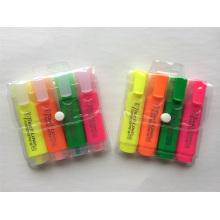 4PCS PVC Bag Emballage Surligneur Stylo Marqueur
